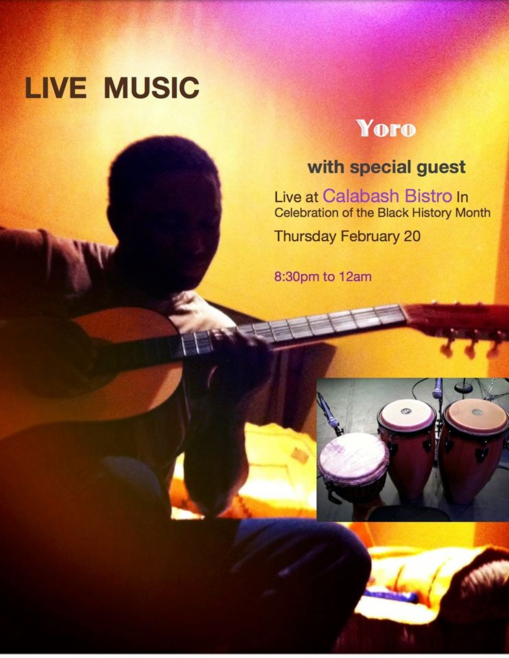 Performance:  Yoro with special guest @ February 20, 2020 @ 8:30pm @  Calabash Bistro, 428 Carrall St (Vancouver)