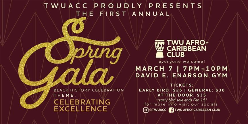 Community Event: Celebrating Black Excellence by The Afro-Caribbean Club at Trinity Western University – March 7, 2020 @ David E. Enarson Gym – Trinity Western University, 7600 Glover Road, Langley Township, BC (Langley)